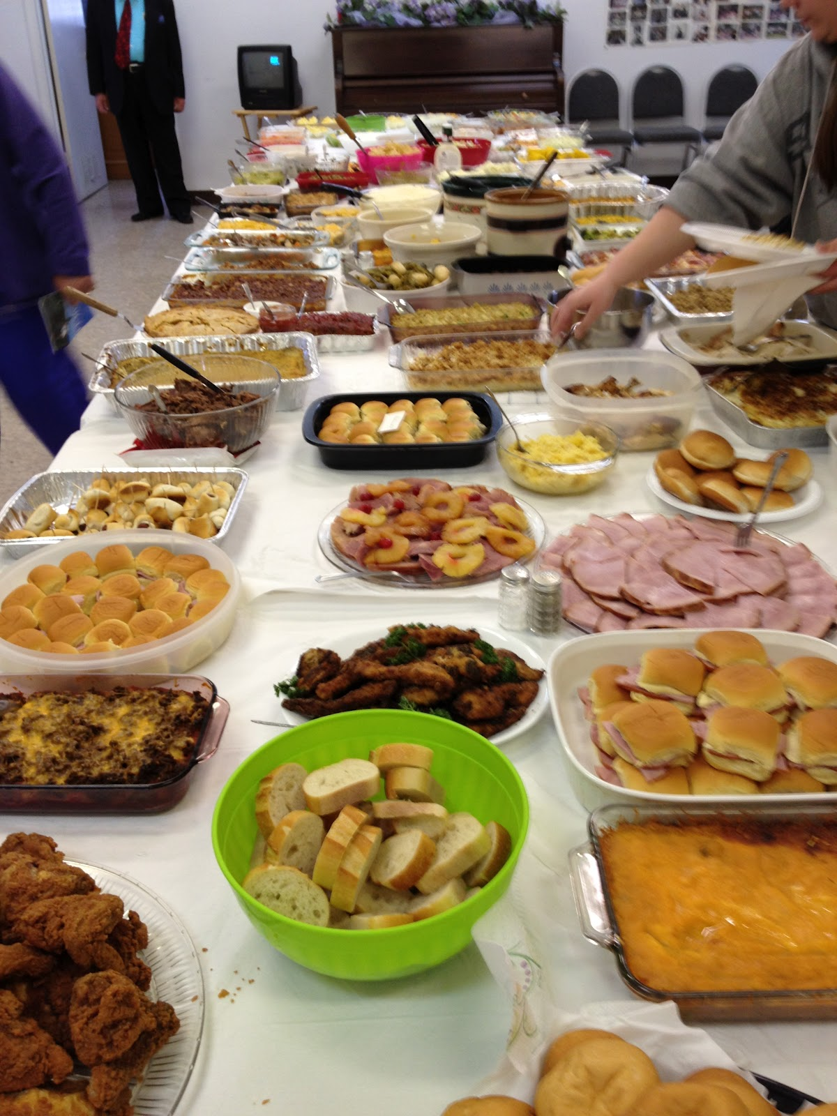 Image result for church potluck dinner""